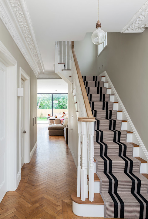 Ashley Road Concept Eight Architects Modern corridor, hallway & stairs