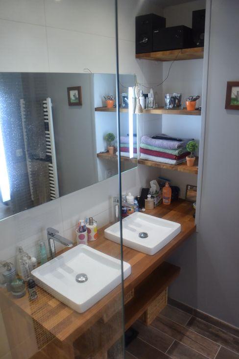 Transformation d'un local professionnel en appartement Notes de Styles - Agence Nord pas de Calais Salle de bain moderne