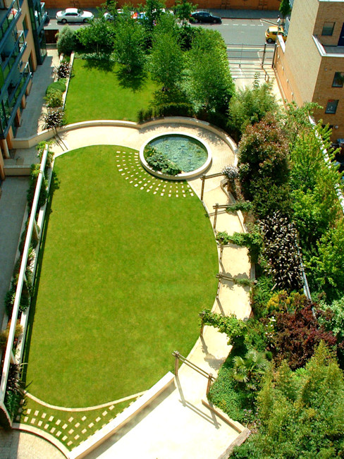 The Pavilion, London Bowles & Wyer Modern Bahçe