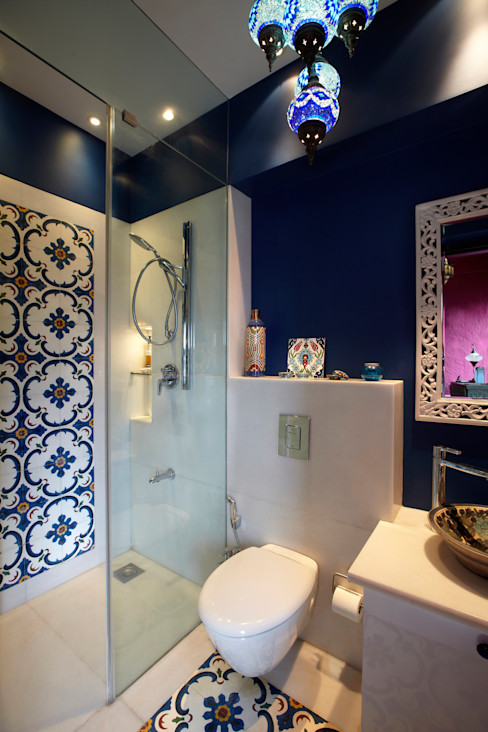 Powder toilet homify Eclectic style bathroom