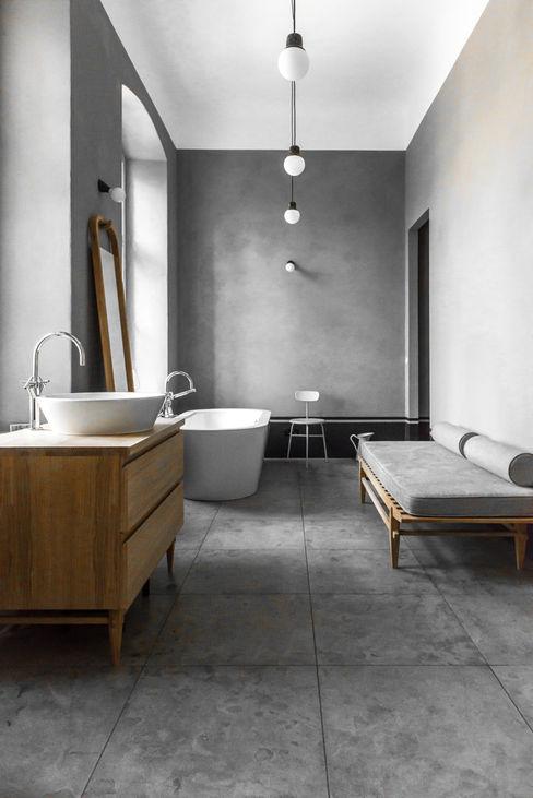 Master bathroom Loft Kolasinski Industrial style bathroom Stone Grey