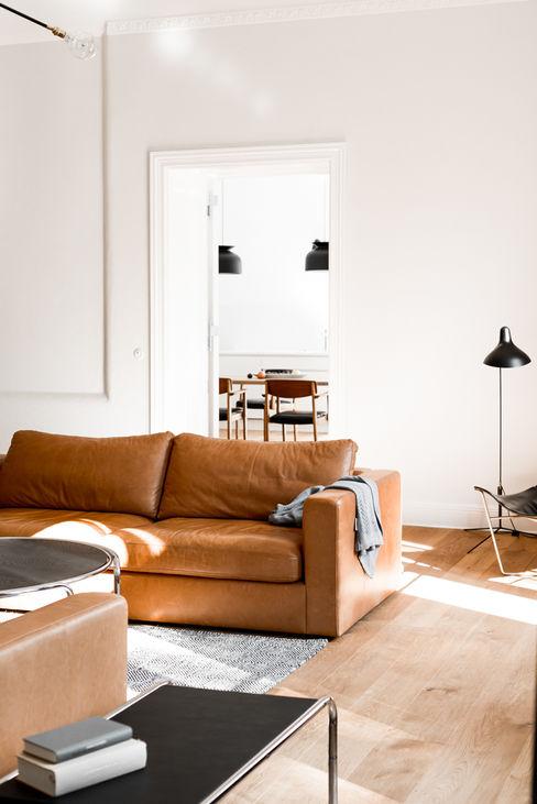 Living room Loft Kolasinski Living room Wood White