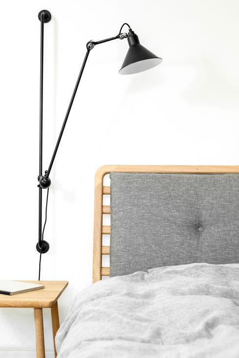 Loft Kolasiński 臥室床與床頭櫃 亞麻織品 Grey