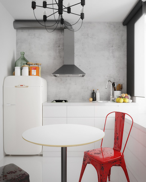 homify Kitchen White
