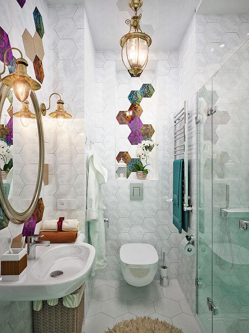 Студия дизайна ROMANIUK DESIGN Baños de estilo moderno
