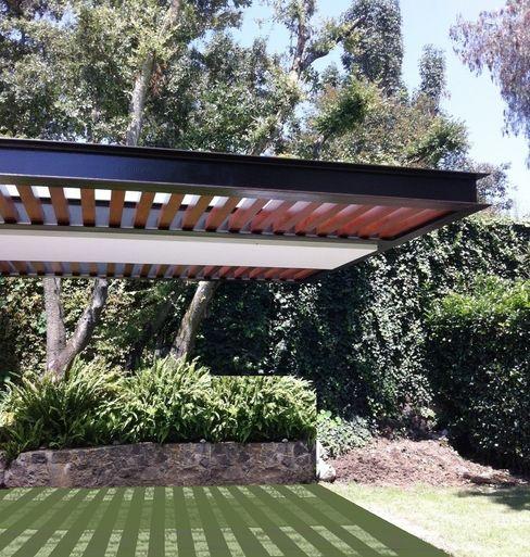 Productos Cristalum Modern garden Aluminium/Zinc Wood effect