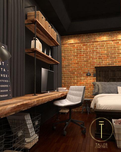 Taller 03 Industriale Schlafzimmer Ziegel Schwarz