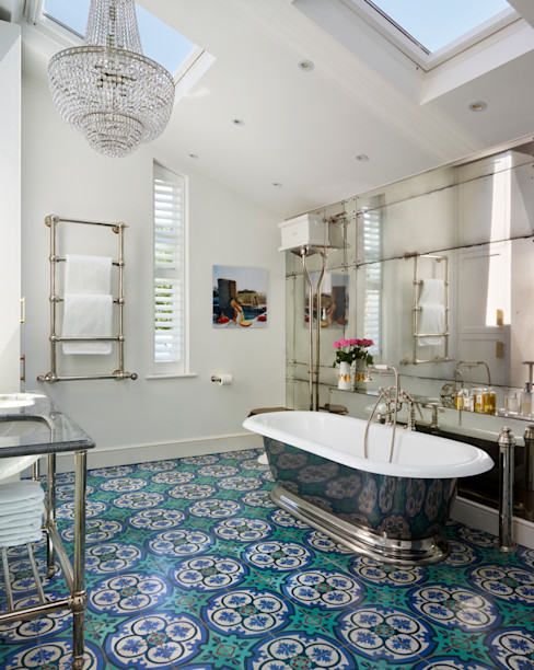 Victorian Terrace House, South-West London Drummonds Bathrooms Eclectic style bathroom