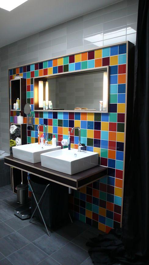 Verbouwing woonhuis Rosmalen JANICKI ARCHITECT Moderne badkamers Keramiek
