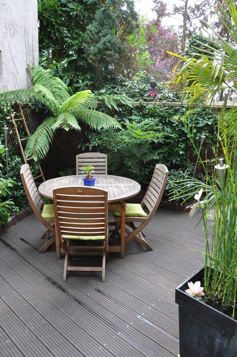 Terrasse tropicale à Enghien-les-Bains Taffin Jardin tropical