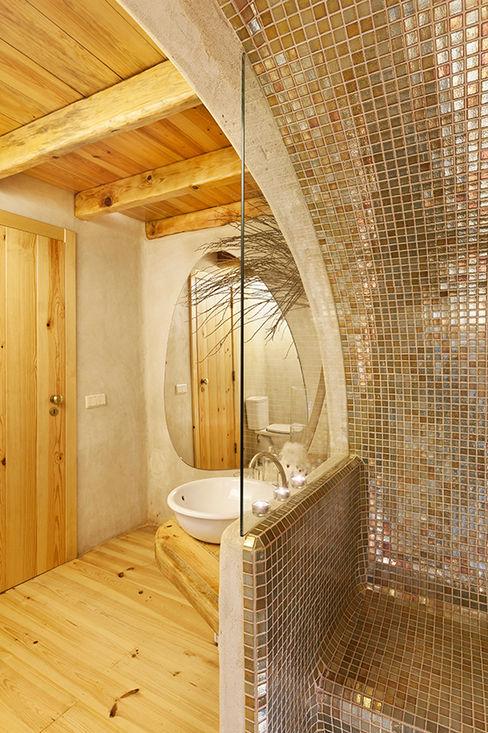 pedro quintela studio Ванна кімната Дерев'яні