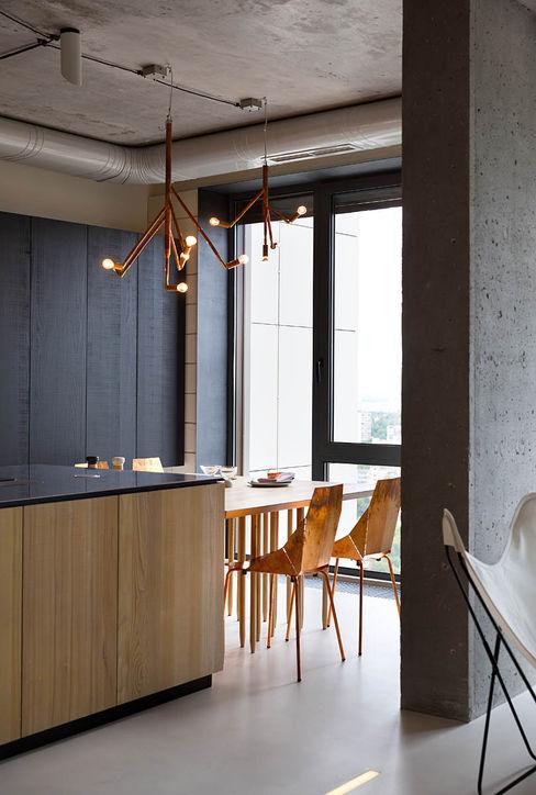 NPL. Penthouse Olga Akulova DESIGN Industrial style kitchen