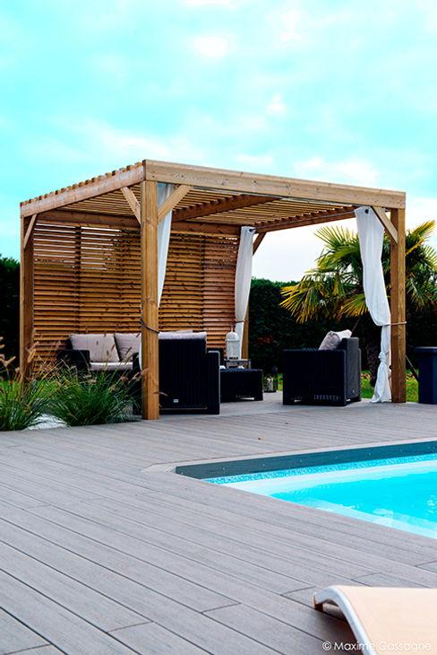 E/P ESPACE DESIGN - Emilie Peyrille Albercas modernas Acabado en madera
