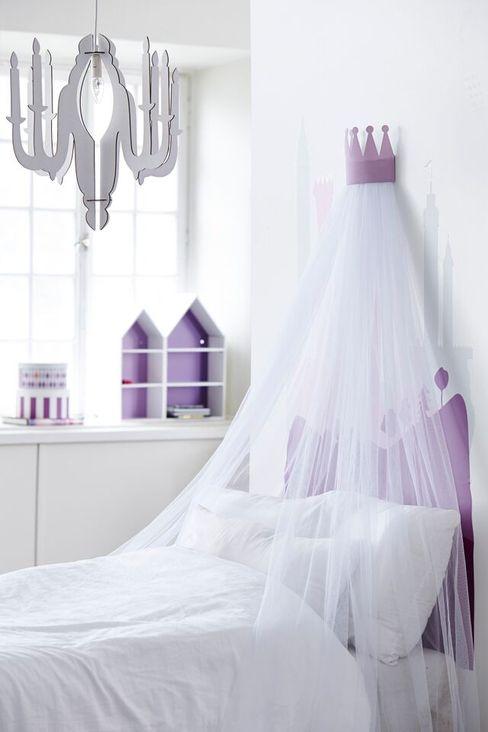 KIDS CONCEPT CHILD FAIRY WOODEN CHANDELIER CEILING LAMP-WHITE Viva Lagoon Ltd Nursery/kid's roomLighting Wood White