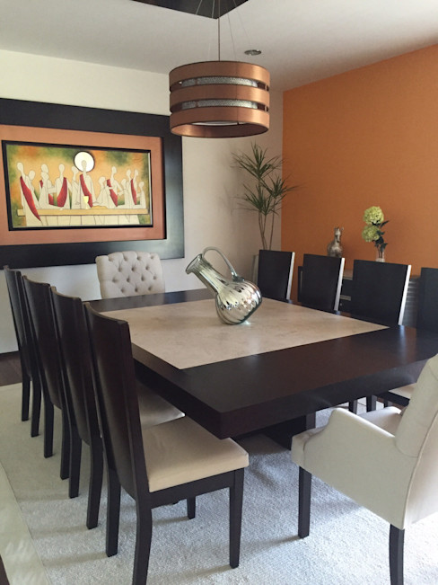 Helio interiores Tehuacan Salle à manger moderne