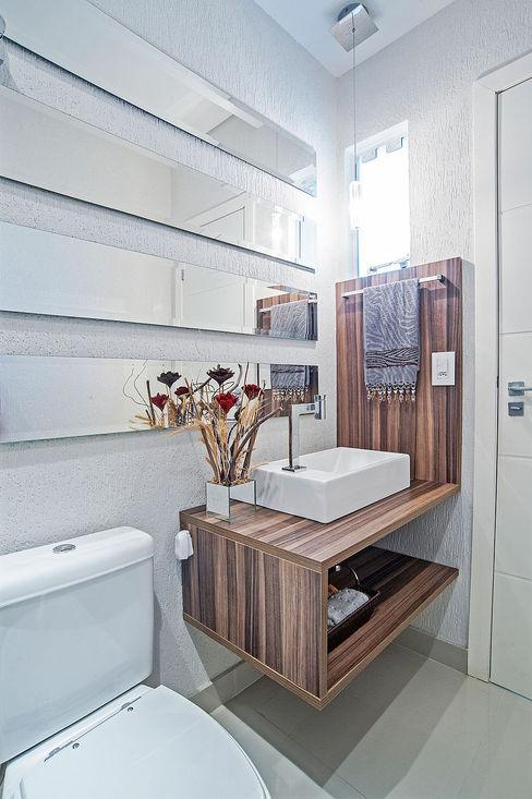 Patrícia Azoni Arquitetura + Arte & Design 現代浴室設計點子、靈感&圖片