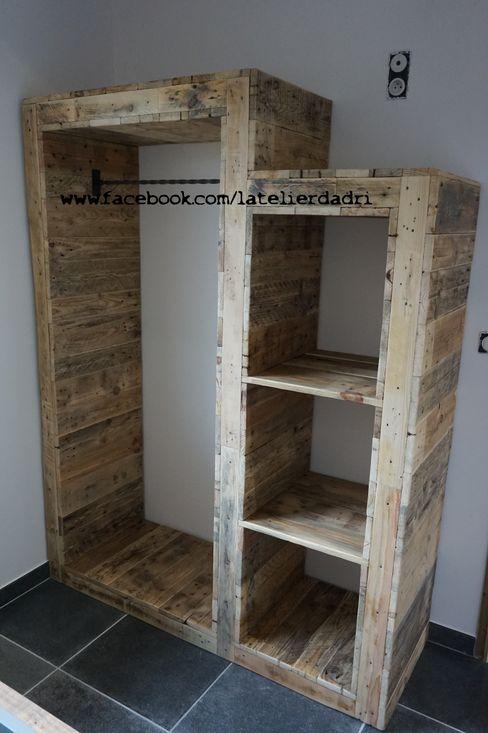 l'atelier d'adri BedroomWardrobes & closets Wood