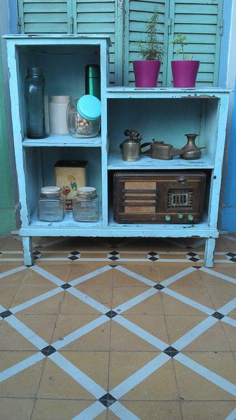 ALACENA/REPISA INTERVENIDA Muebles eran los de antes - Buenos Aires CocinasEstanterías y despensas Madera maciza Turquesa
