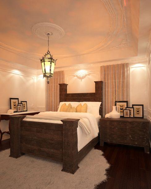 Reamara Chic Taller 03 Dormitorios de estilo ecléctico Madera Blanco