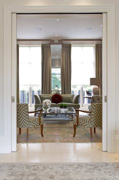 The Living Room at Newton Road. Nash Baker Architects Ltd Moderne woonkamers