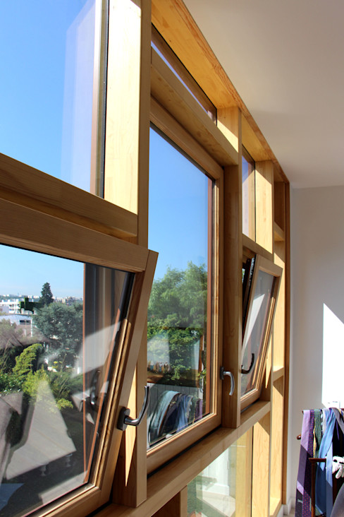 Olivier Stadler Architecte Modern windows & doors Wood Wood effect