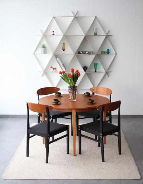 Rundes Wandregal aus Holz in weiß Baltic Design Shop WohnzimmerRegale Holz Weiß