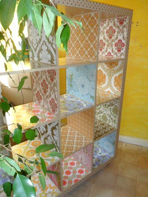 Raumteiler Vintage casa-creativa HaushaltAufbewahrung Holzspanplatte Mehrfarbig