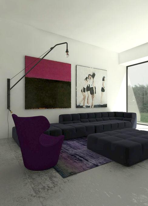 Sic! Zuzanna Dziurawiec غرفة المعيشة أسمنت Purple/Violet