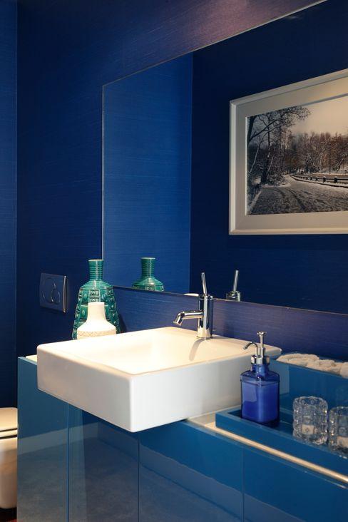Atelier Susana Camelo 現代浴室設計點子、靈感&圖片 Blue