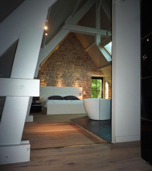 NAI ARCHITECTURE モダンスタイルの寝室