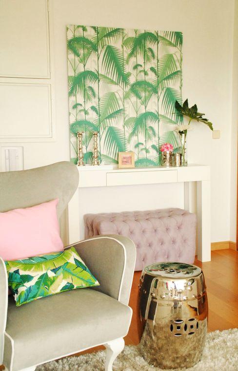 White Glam Modern Living Room