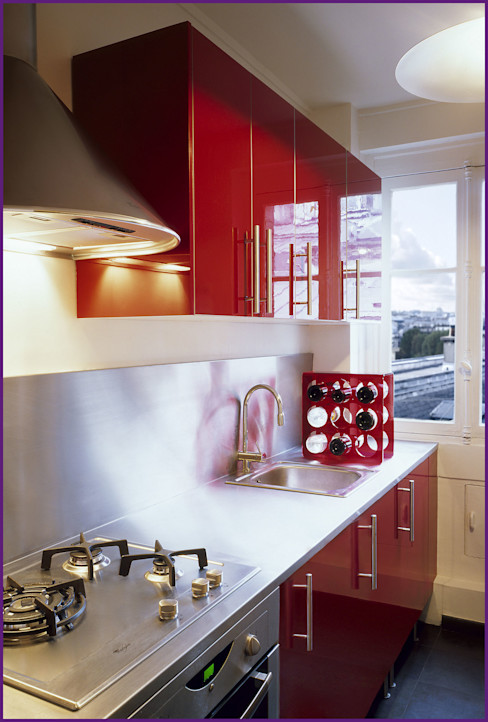 CUISINE IKEA/INOX Agence KP Cuisine moderne Fer / Acier