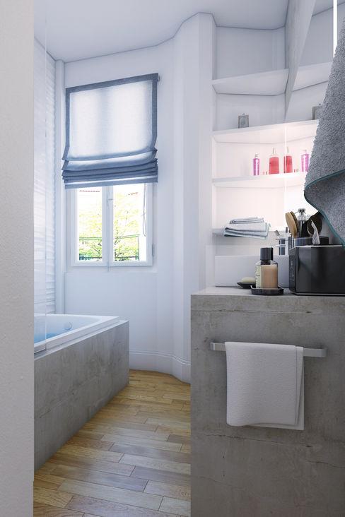 Agence KP حمام أسمنت Grey