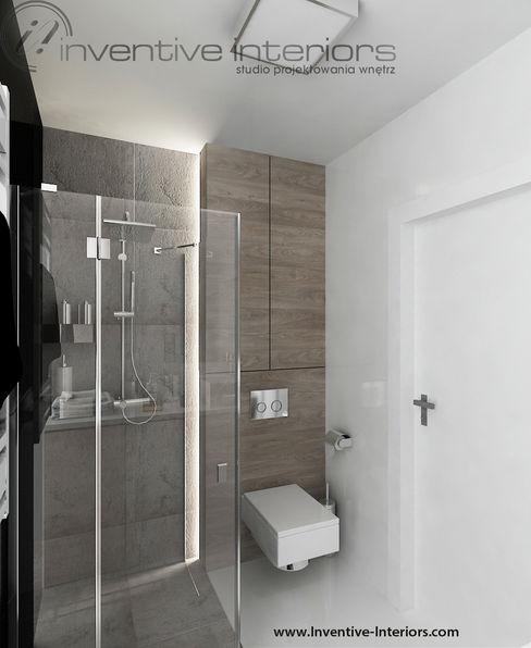 Inventive Interiors 인더스트리얼 욕실 그레이