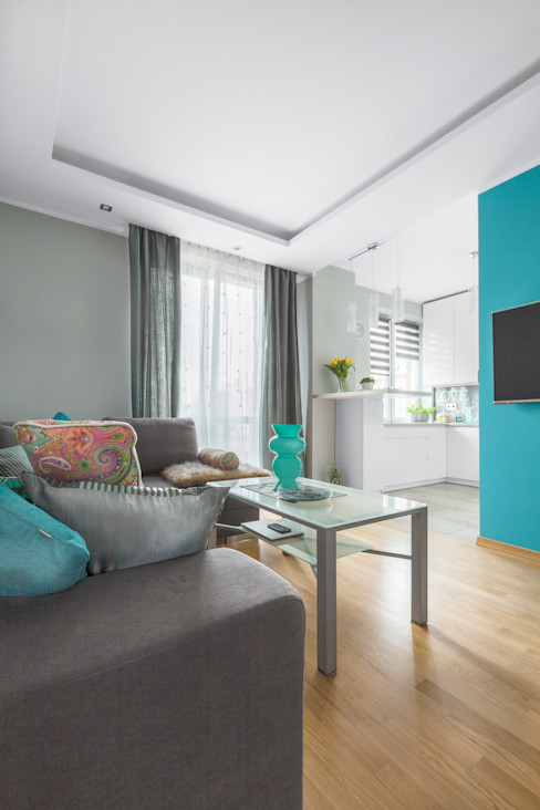 Pracownia Architektury Wnętrz Decoroom 现代客厅設計點子、靈感 & 圖片