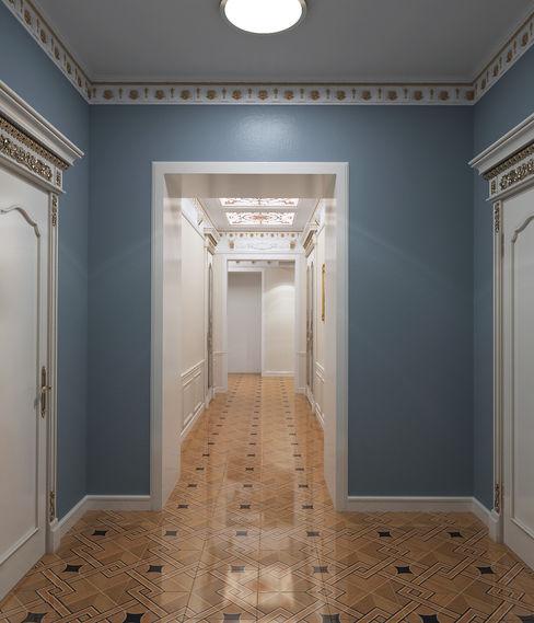 homify Koridor & Tangga Klasik Blue
