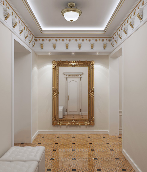 homify Koridor & Tangga Klasik White