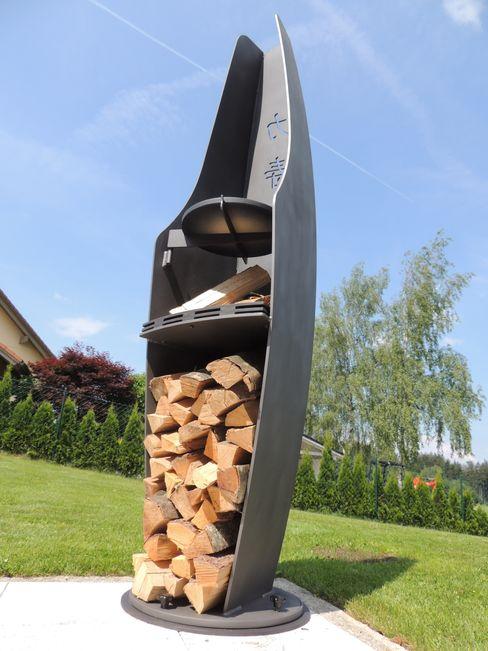 MABADESIGN JardimBarbecues e grelhadores Ferro/Aço Cinza