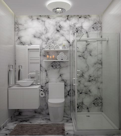 Diseño de Baño Pequeño Gabriela Afonso Baños de estilo moderno Blanco