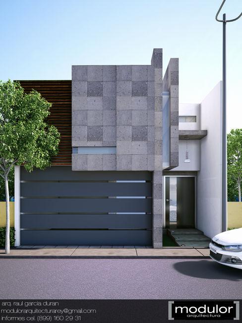 Modulor Arquitectura Nhà Cục đá Grey