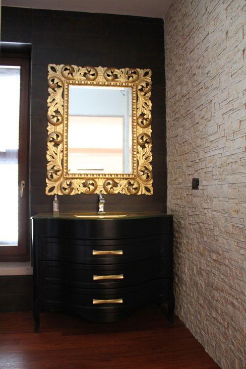 Giuseppe Rappa & Angelo M. Castiglione Modern bathroom Ceramic Amber/Gold