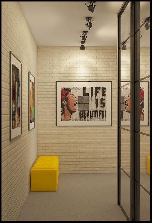 Alexander Krivov 工業風的玄關、走廊與階梯