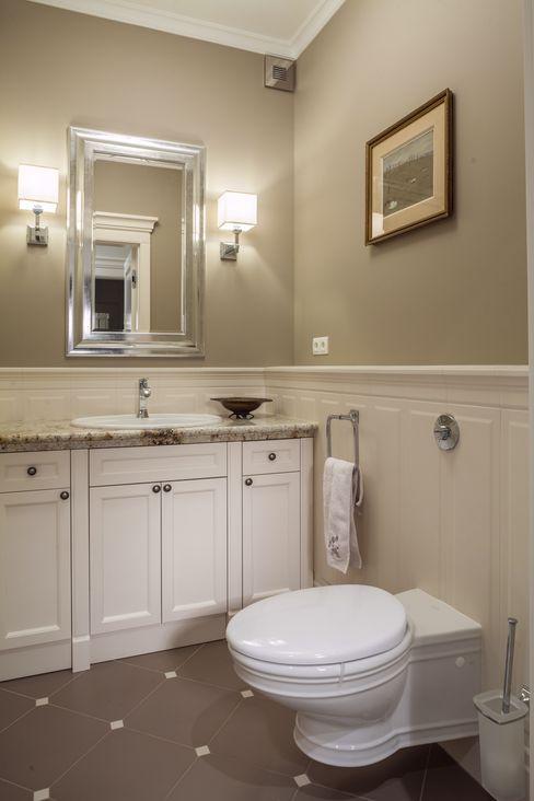 RS Studio Projektowe Roland Stańczyk Classic style bathroom Ceramic Beige