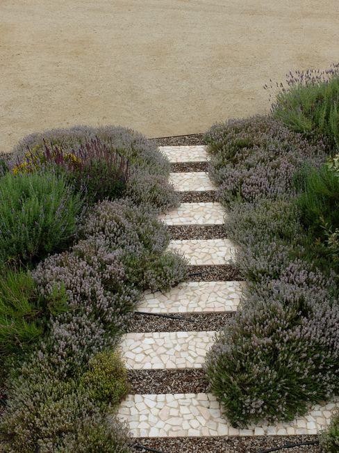 Pormenor de caminho Atelier Jardins do Sul Jardins ecléticos