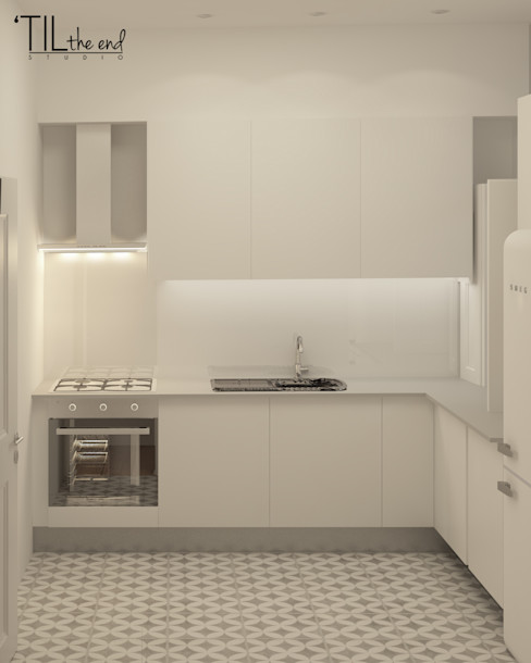 homify Kitchen Tiles Grey