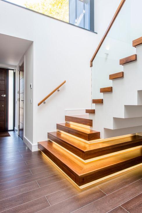 Canford Cliffs, Poole, Dorset David James Architects & Partners Ltd Pasillos, vestíbulos y escaleras modernos