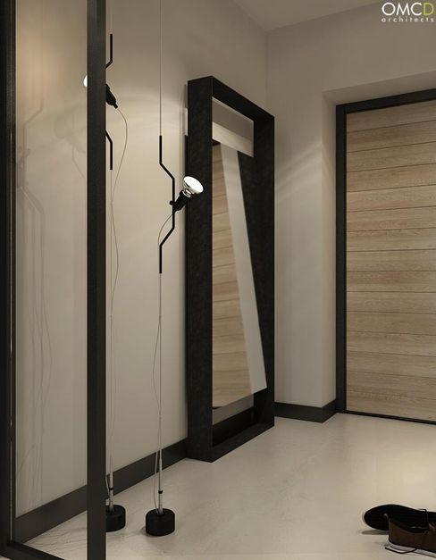 OMCD Architects Minimalist corridor, hallway & stairs
