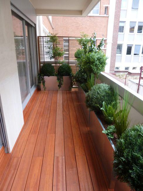 Scènes d'extérieur Modern balcony, veranda & terrace