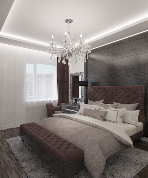 Студия дизайна Виктории Силаевой Спальня Коричневий