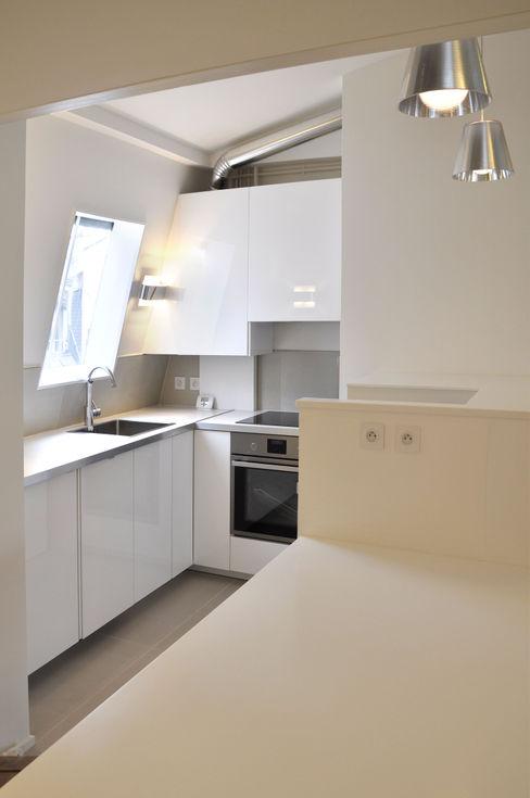 Appartement Paris XVIe Agence Benjamin Robert Design Cuisine moderne